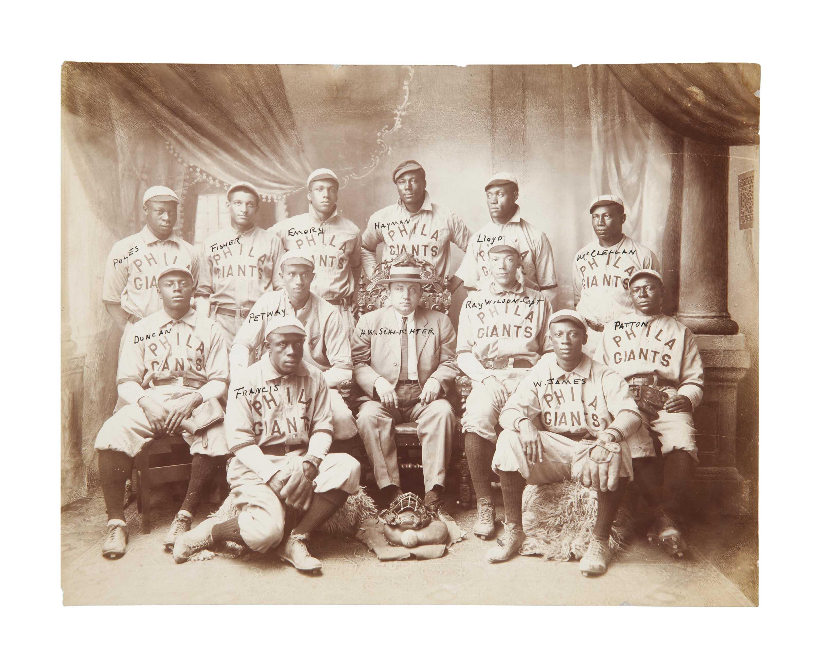 1909 PHILADELPHIA GIANTS TEAM
