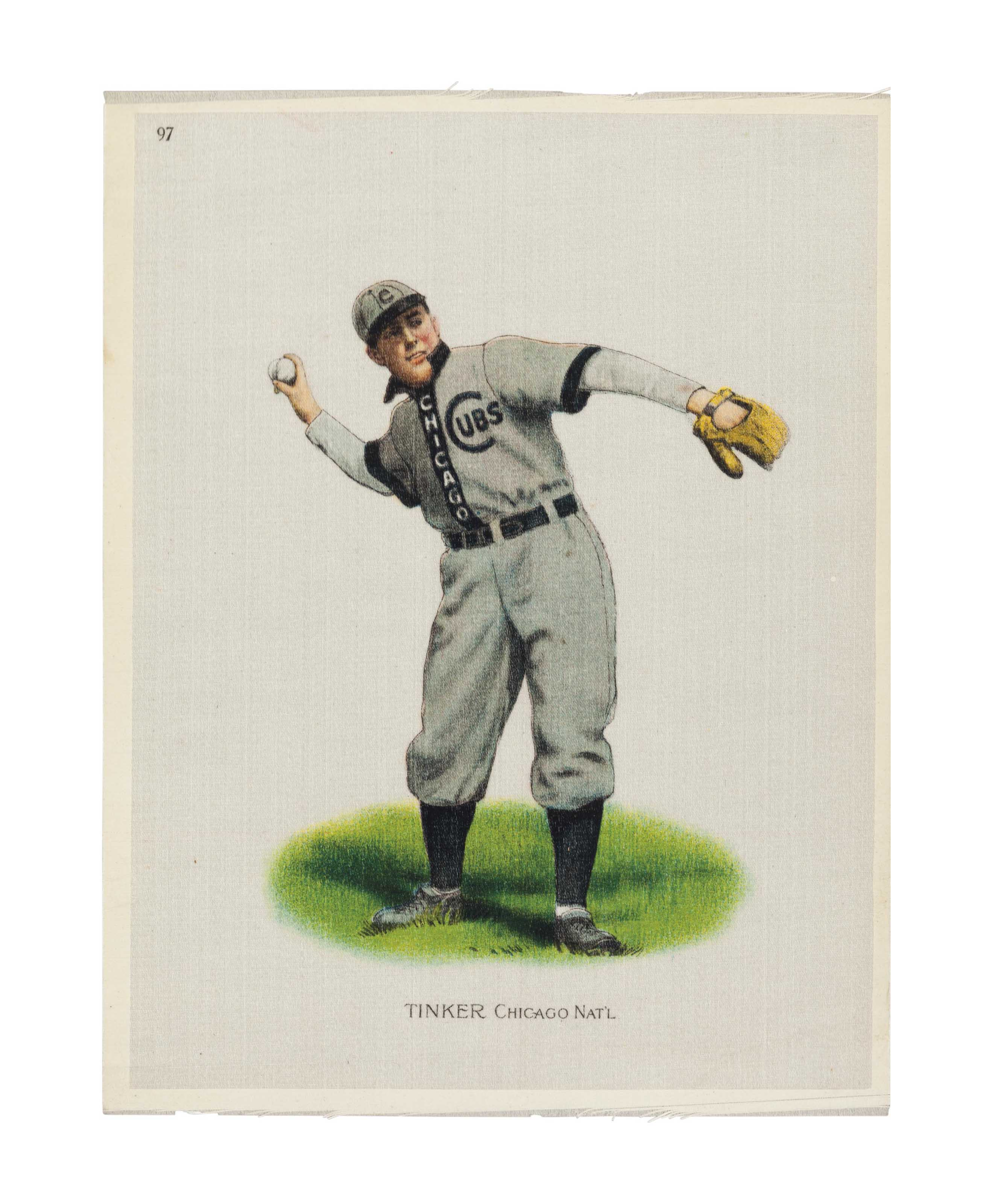 1910 JOE TINKER SILK TOBACCO P