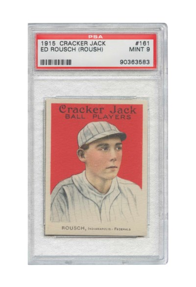 1915 CRACKER JACK #161 ED ROUS