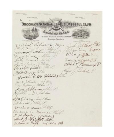 1922 BROOKLYN ROBINS SIGNED TE