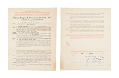 JIM BOTTOMLEY SIGNED CONTRACT