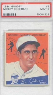 1934 GOUDEY #2 MICKEY COCHRANE