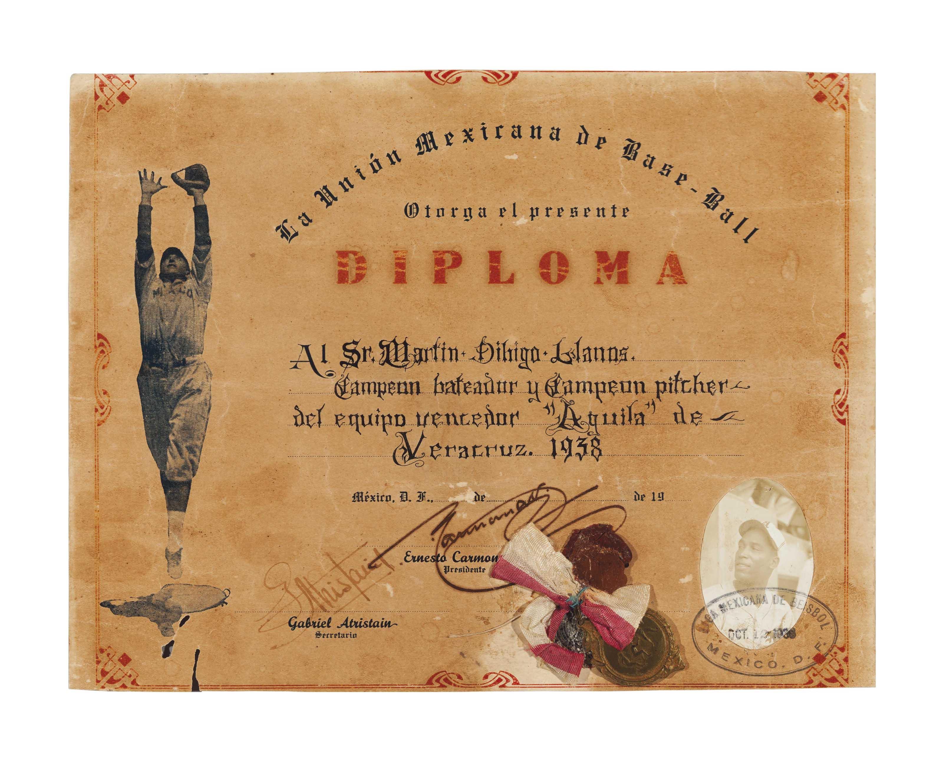 MARTIN DIHIGO 1938 MEXICAN LEA