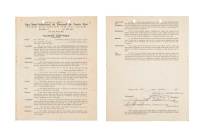 SATCHEL PAIGE SIGNED CONTRACT