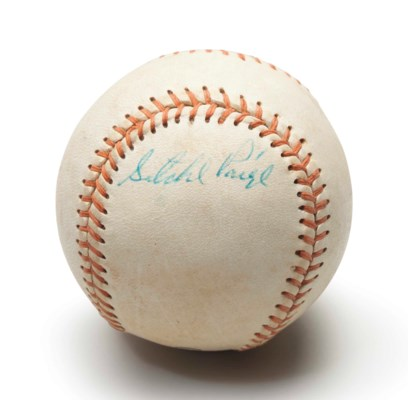 SATCHEL PAIGE SINGLE SIGNED BA