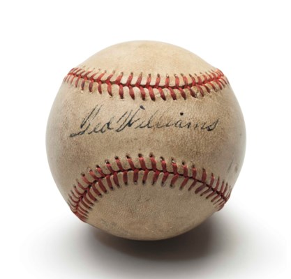 TED WILLIAMS SINGLE SIGNED BAS