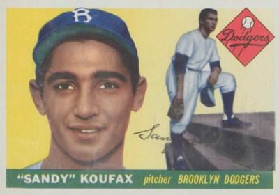 1955 TOPPS #123 SANDY KOUFAX