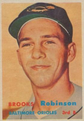 1957 TOPPS #328 BROOKS ROBINSO