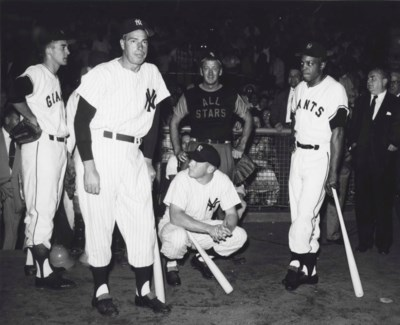 DIMAGGIO, MANTLE & MAYS PHOTOG