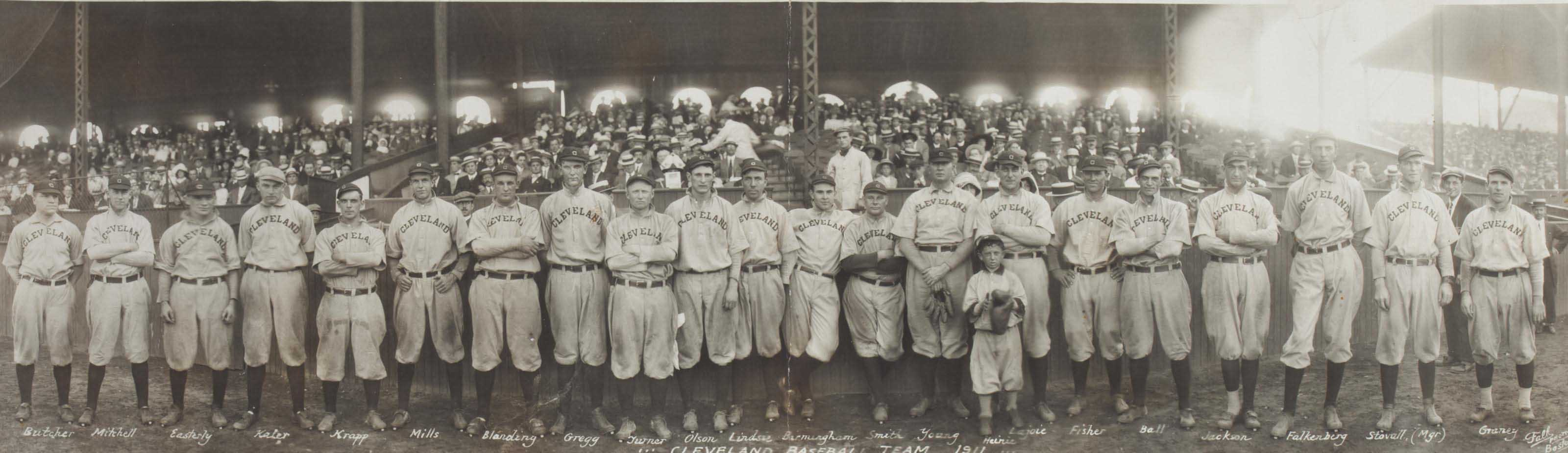 1911 CLEVELAND NAPS TEAM PANOR