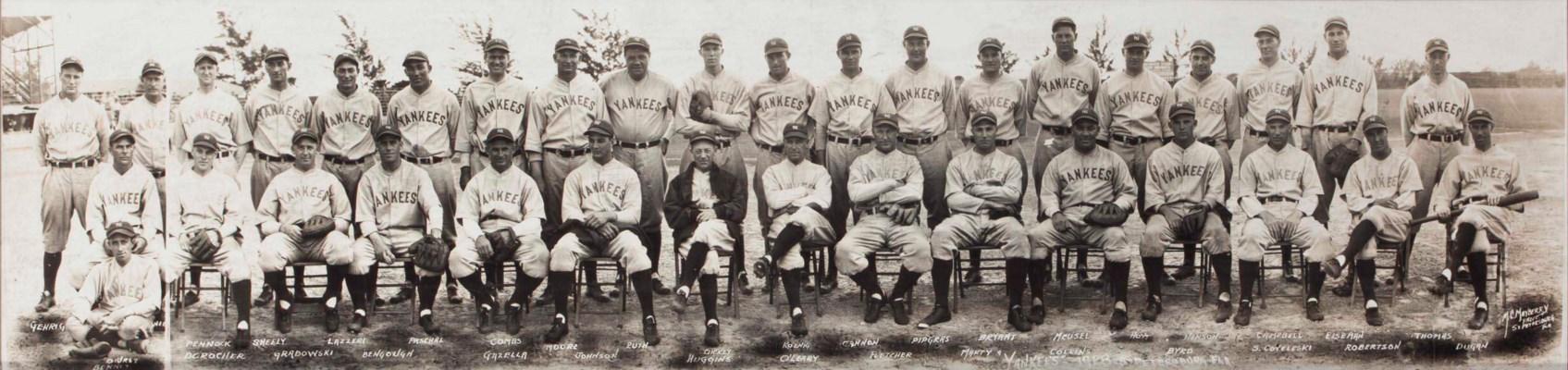 1928 NEW YORK YANKEES TEAM PAN