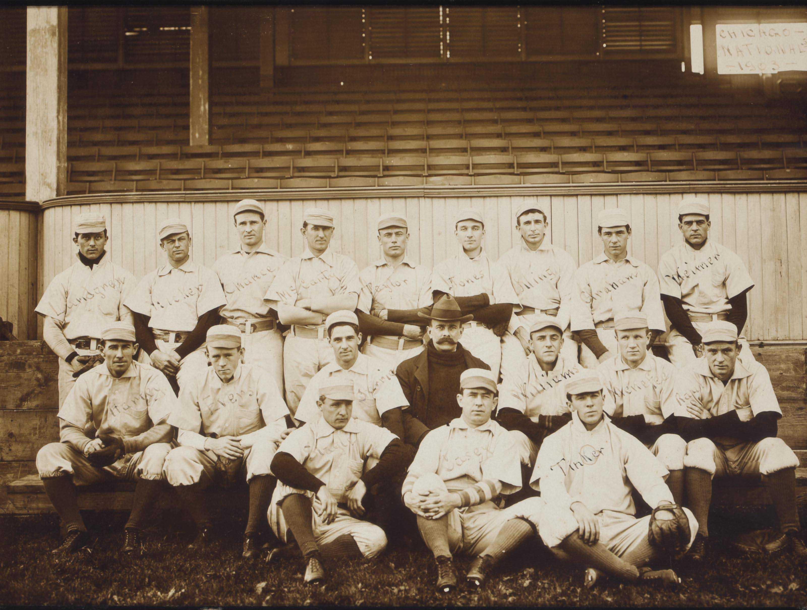 1903 CHICAGO CUBS TEAM PHOTOGR