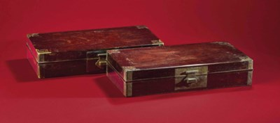 A RARE PAIR OF ZITAN BOXES, XI