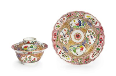 A FAMILLE ROSE AND GILT-DECORA