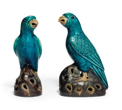 TWO AUBERGINE AND TURQUOISE-GL
