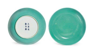 A PAIR OF TURQUOISE-ENAMELED D