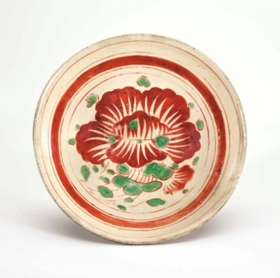 A POLYCHROME-DECORATED CIZHOU