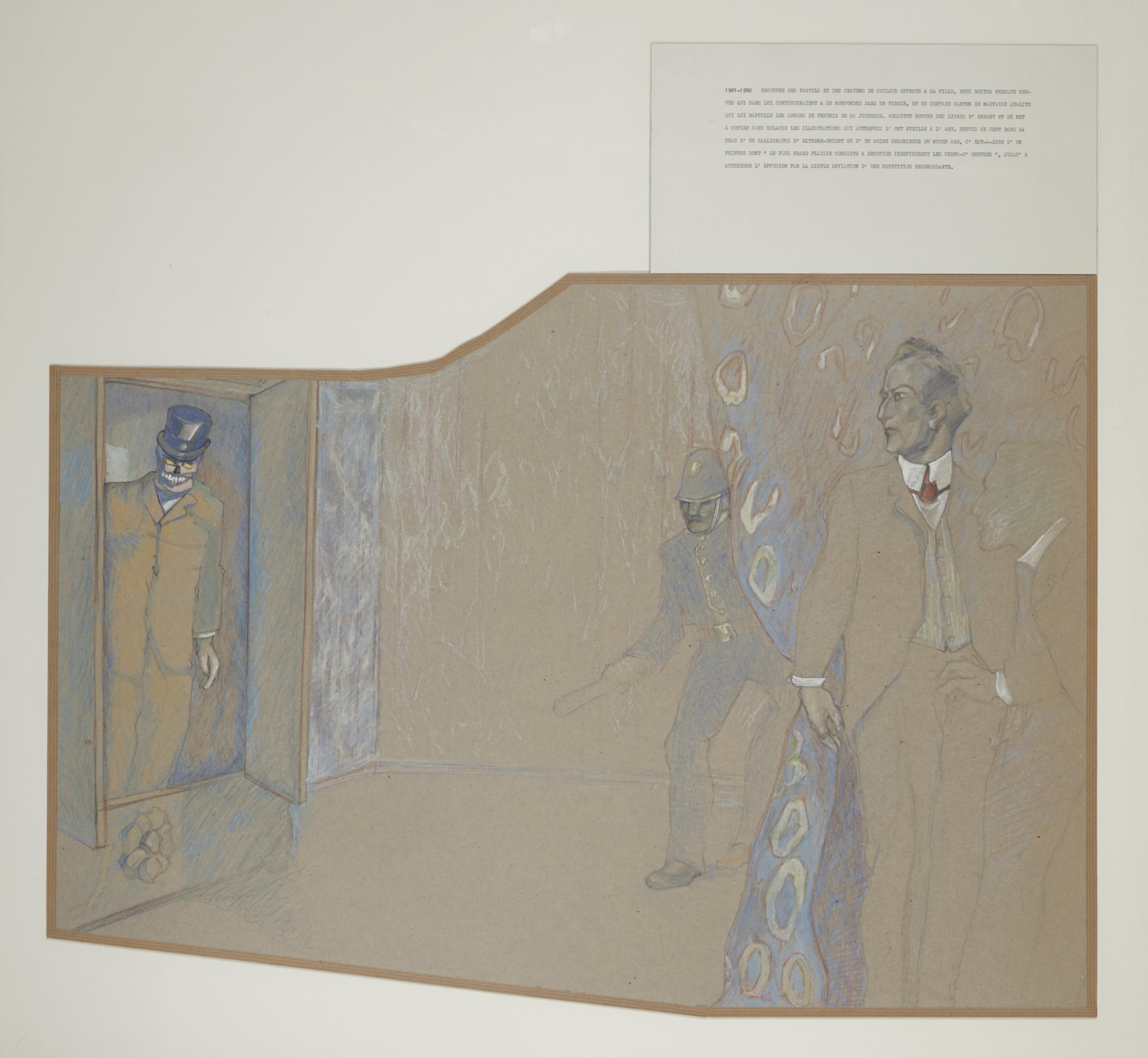 Le délassement du peintre français (avec mort dans le placard)