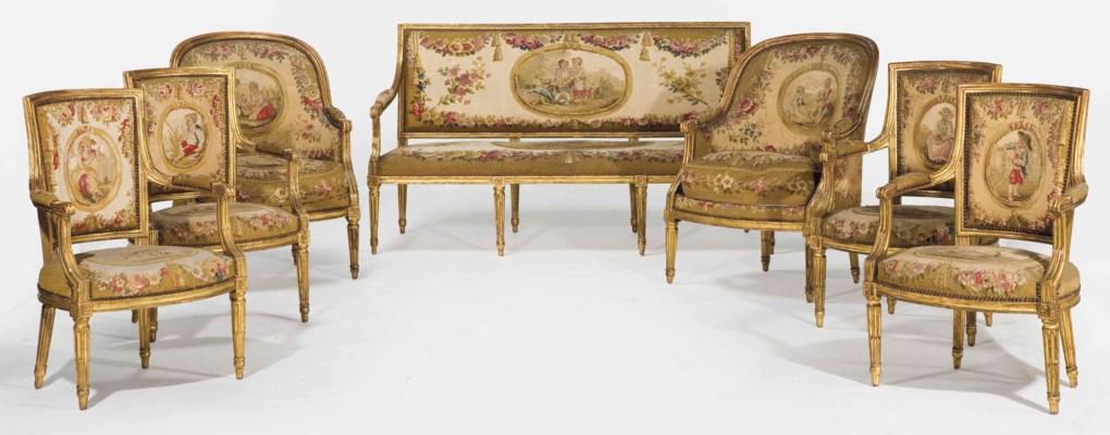 mobilier de salon de style louis xvi christie 39 s. Black Bedroom Furniture Sets. Home Design Ideas