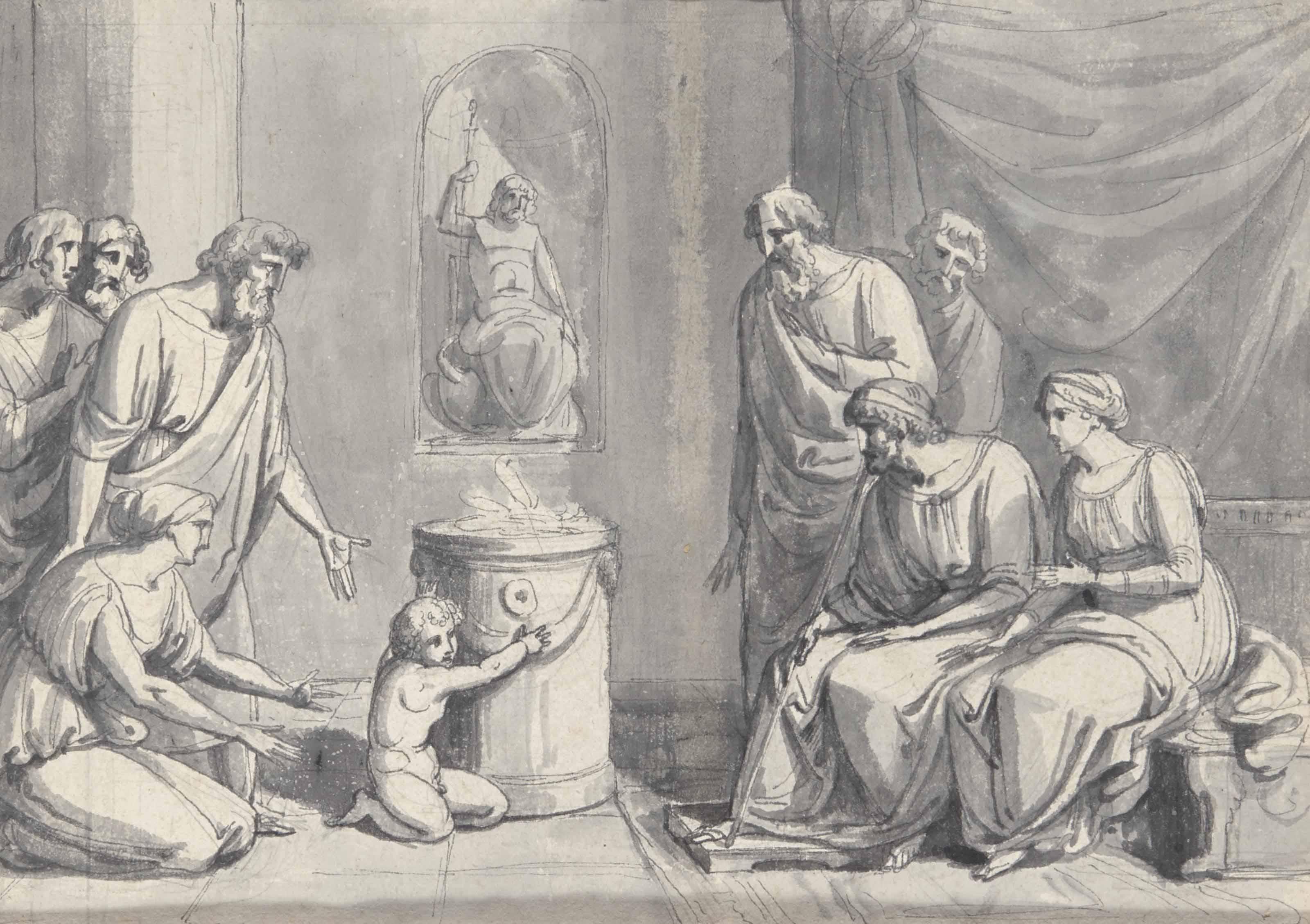 Pyrrhus enfant à la cour du roi Glaucias