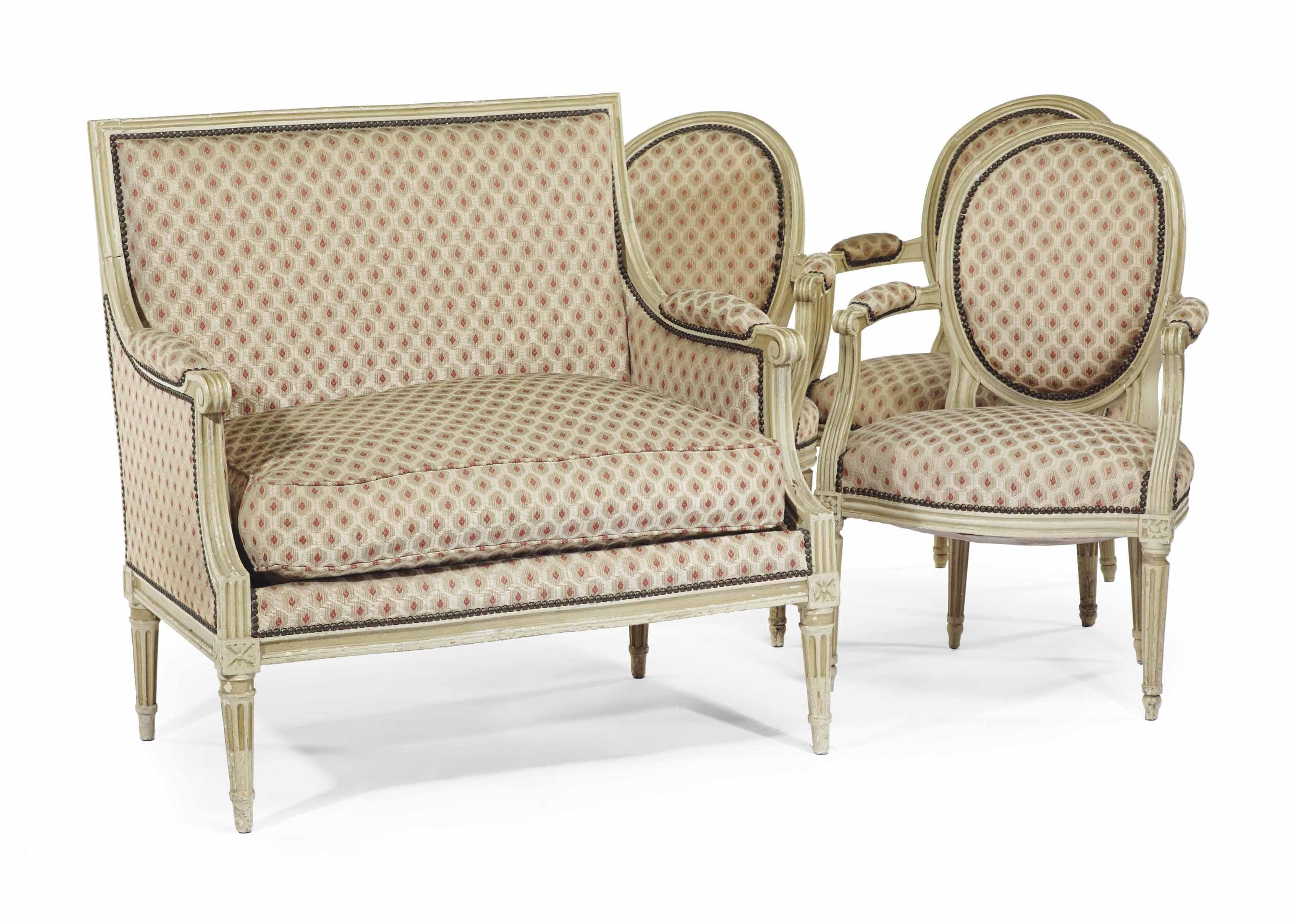 mobilier de salon d 39 epoque louis xvi la marquise estampille de francois claude menant fin du. Black Bedroom Furniture Sets. Home Design Ideas
