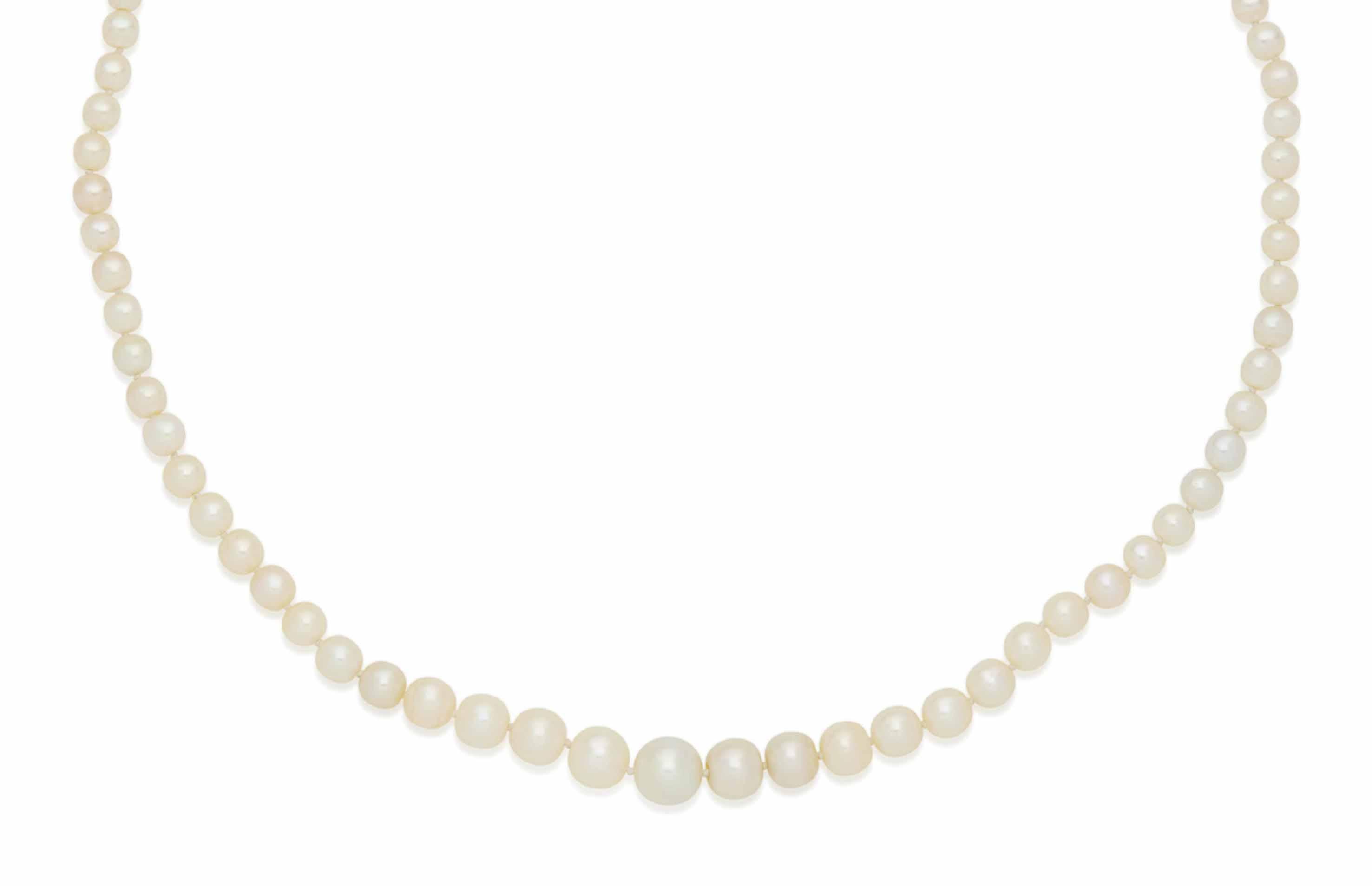 collier perles fines et diamants christie 39 s. Black Bedroom Furniture Sets. Home Design Ideas