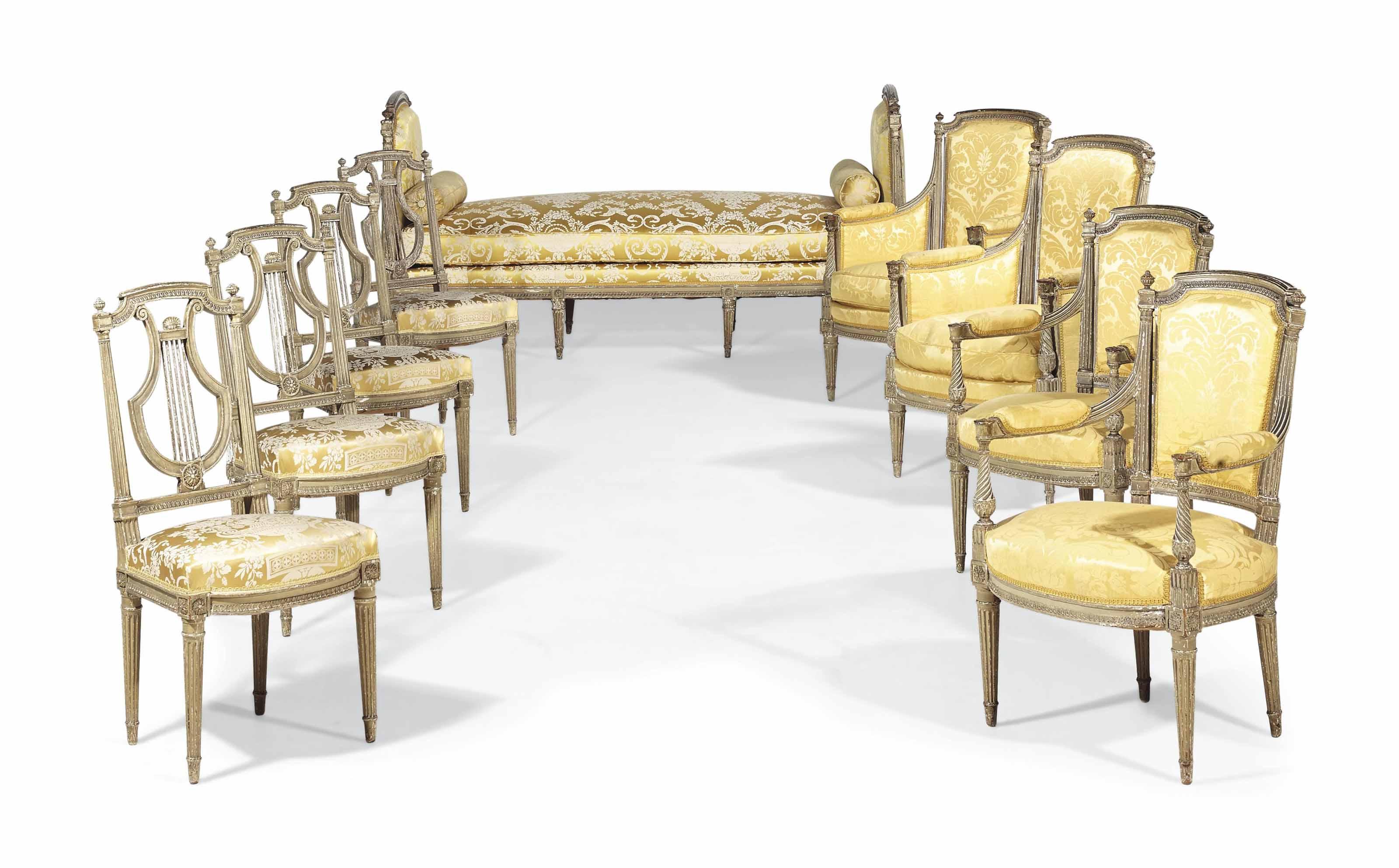 mobilier de salon en cabriolet d 39 epoque directoire fin du xviiieme siecle christie 39 s. Black Bedroom Furniture Sets. Home Design Ideas