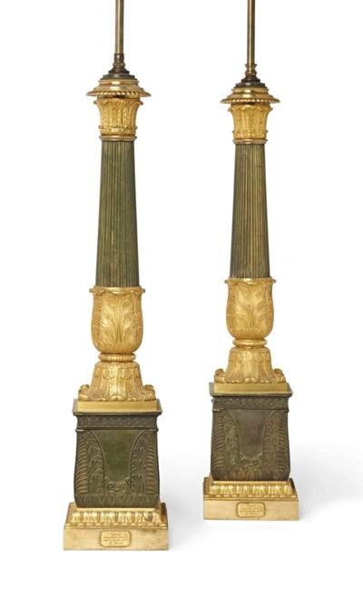 PAIRE DE LAMPES CARCEL DU SECO