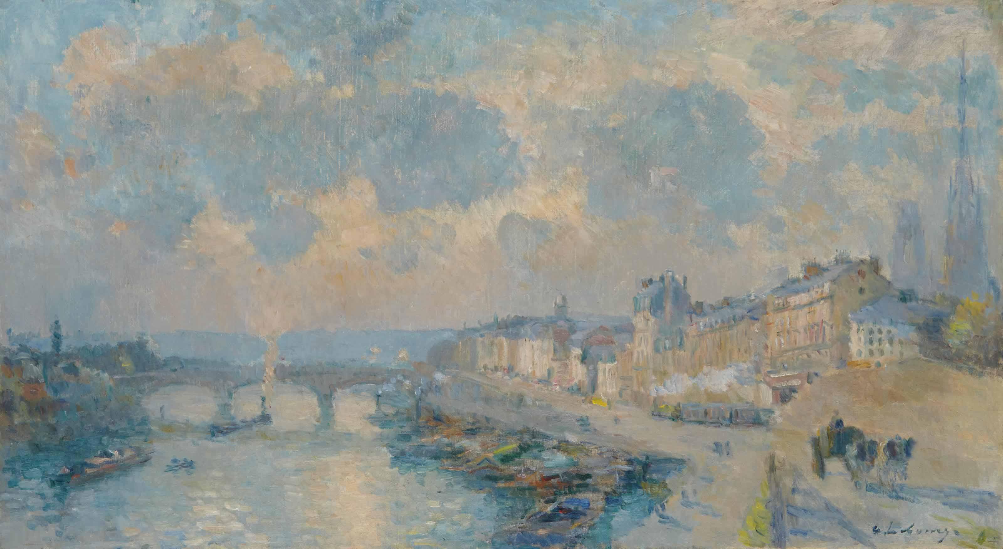 Le Quai de Paris et le Pont Corneille à Rouen