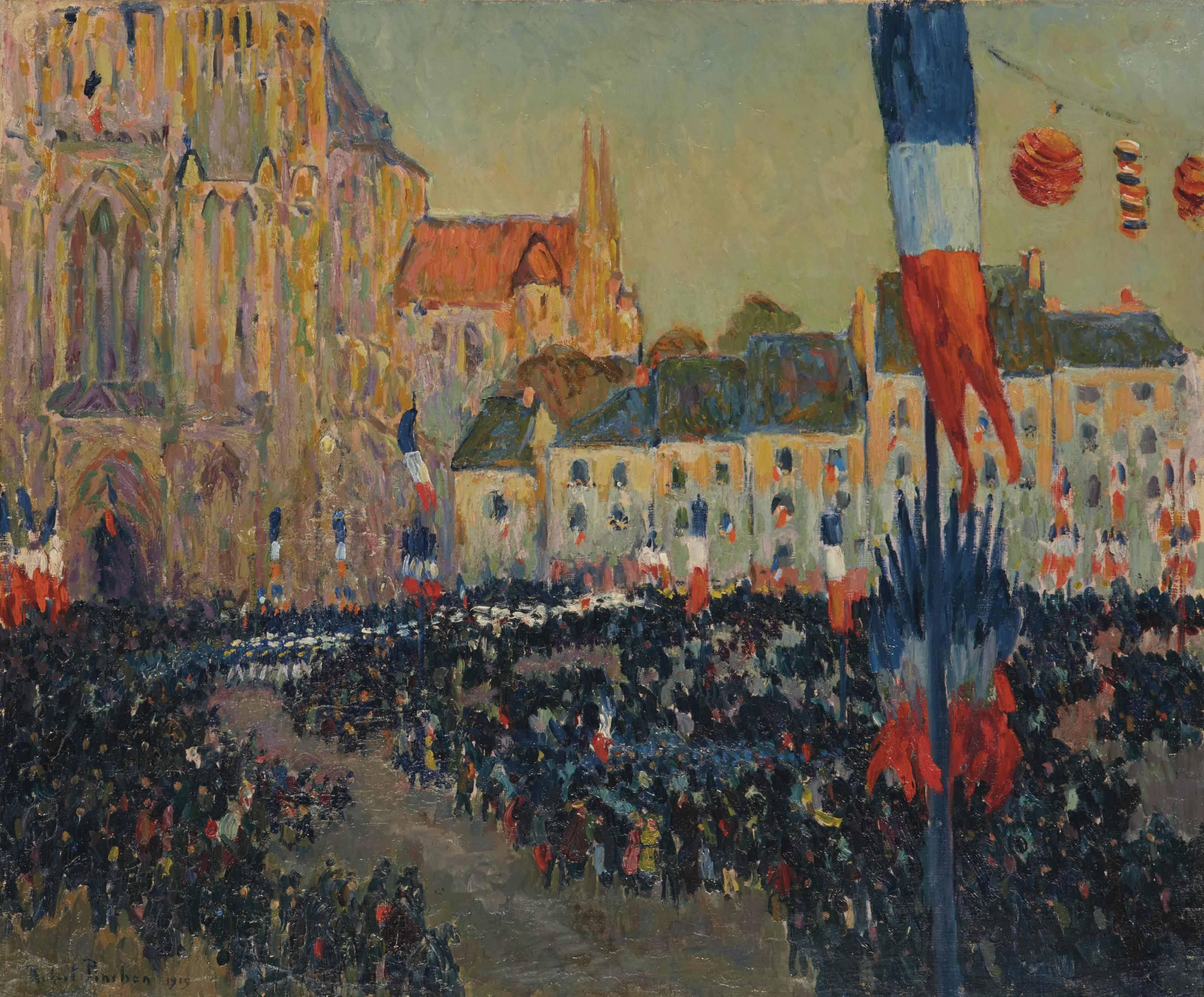 La commémoration du 11 novembre 1919 à Lisieux