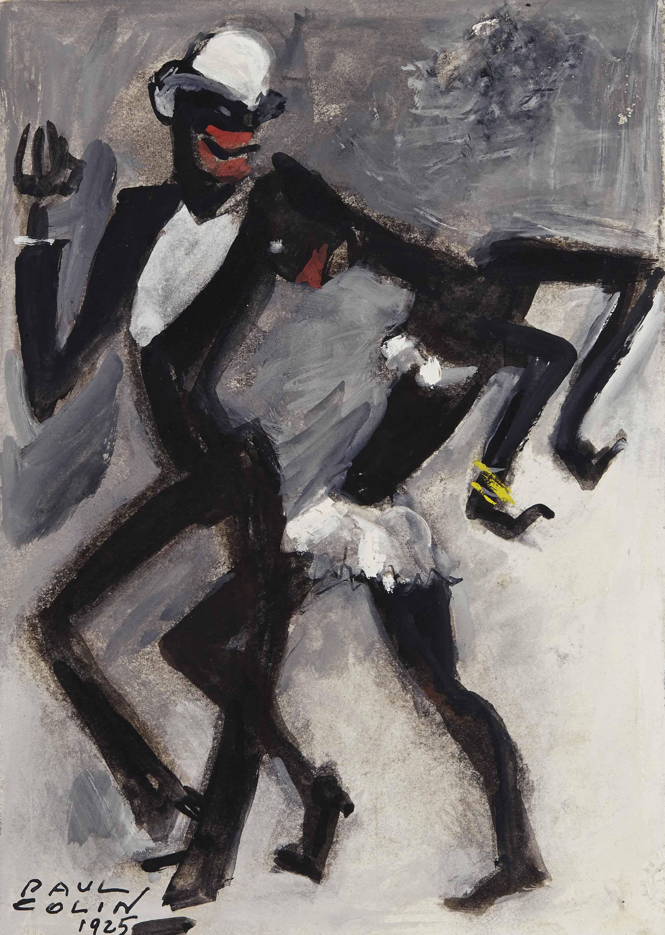 Joséphine Baker et un danseur
