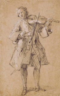 Violoniste debout