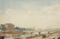 Vue du pont de la Concorde et du Palais Bourbon à Paris