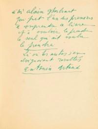 Antonin ARTAUD (1896-1948). Ci-Gît, précédé de La Culture indienne. Paris : K. éditeur, 1947. In-12 5163 x 130 mm). Broché, couverture rempliée imprimée en noir.