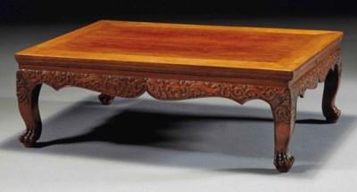 TABLE BASSE EN HUANGHUALI, KAN