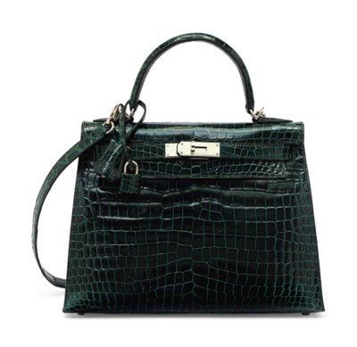 SAC KELLY SELLIER 28 EN CROCOD