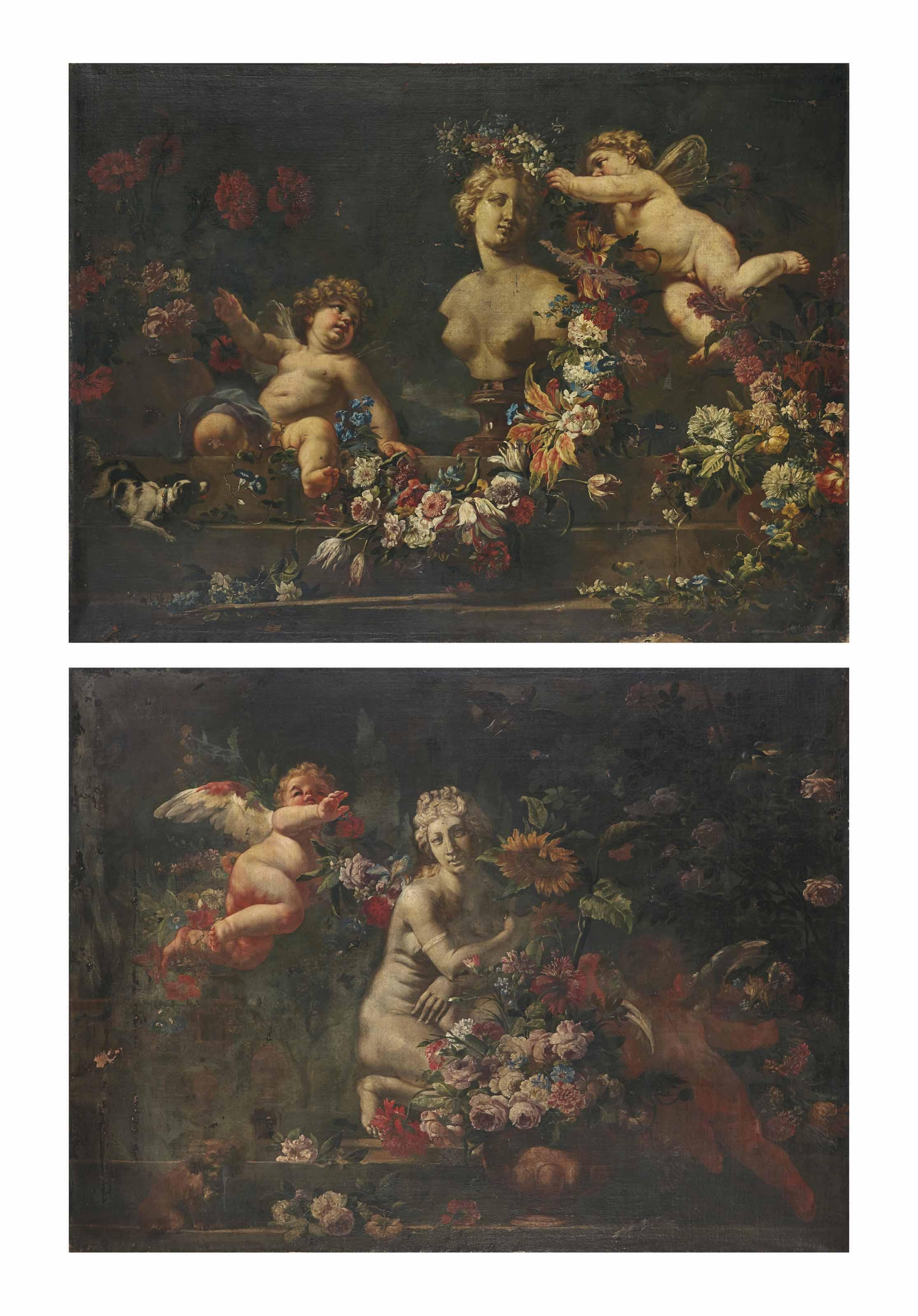 Nature morte à la Vénus accroupie ; et Nature morte au buste de Vénus
