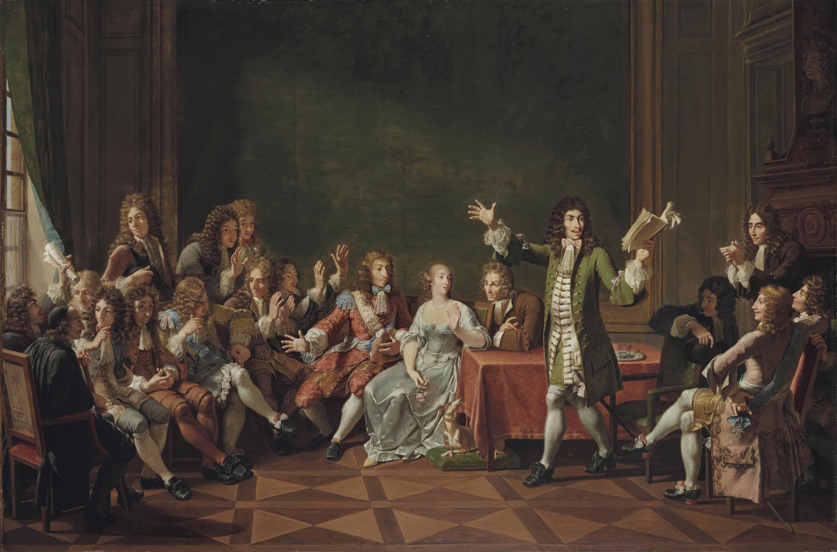 Molière lisant sa comédie du Tartuffe chez Ninon de Lenclos