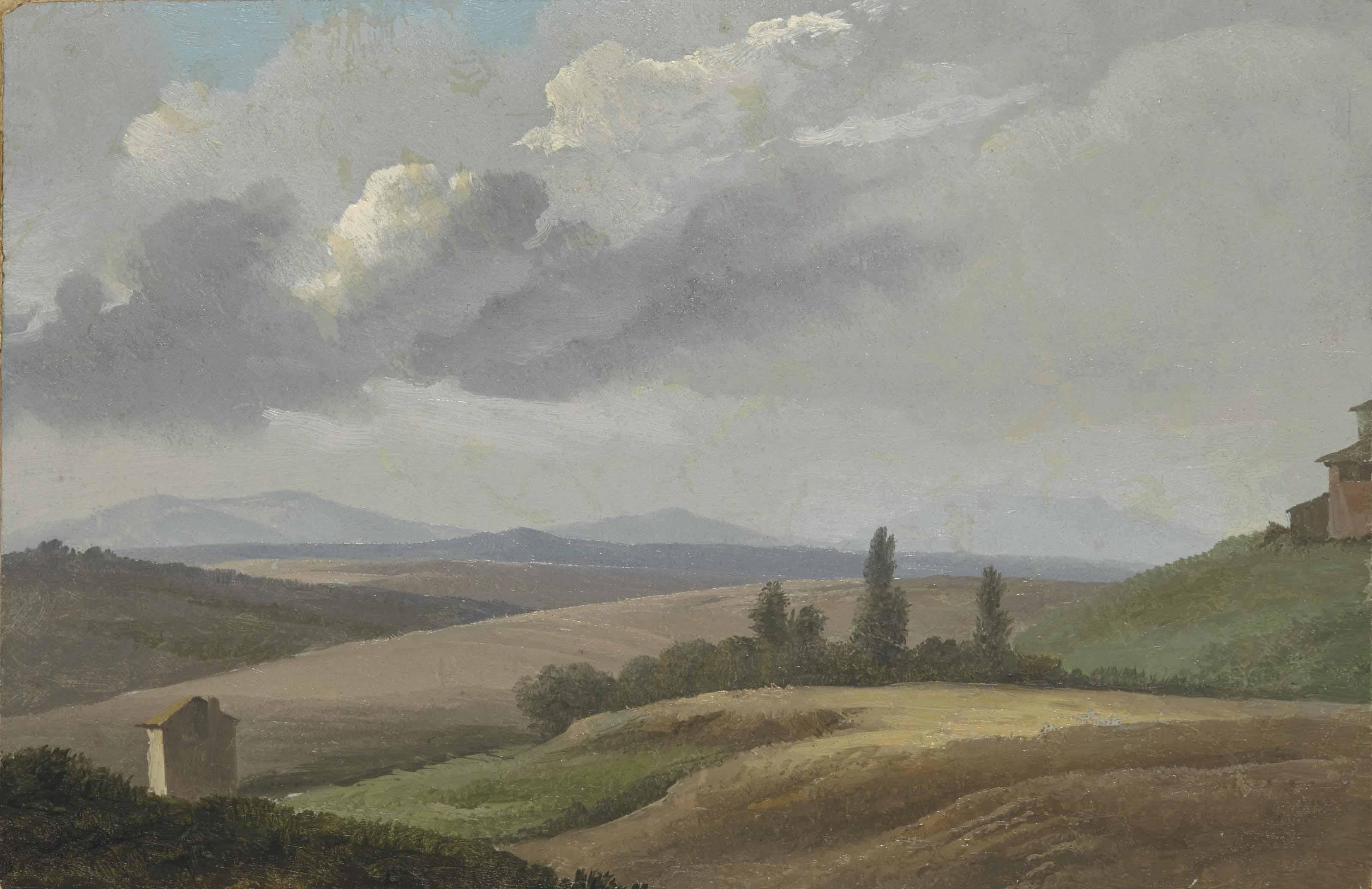 Vue de la campagne près de Rome