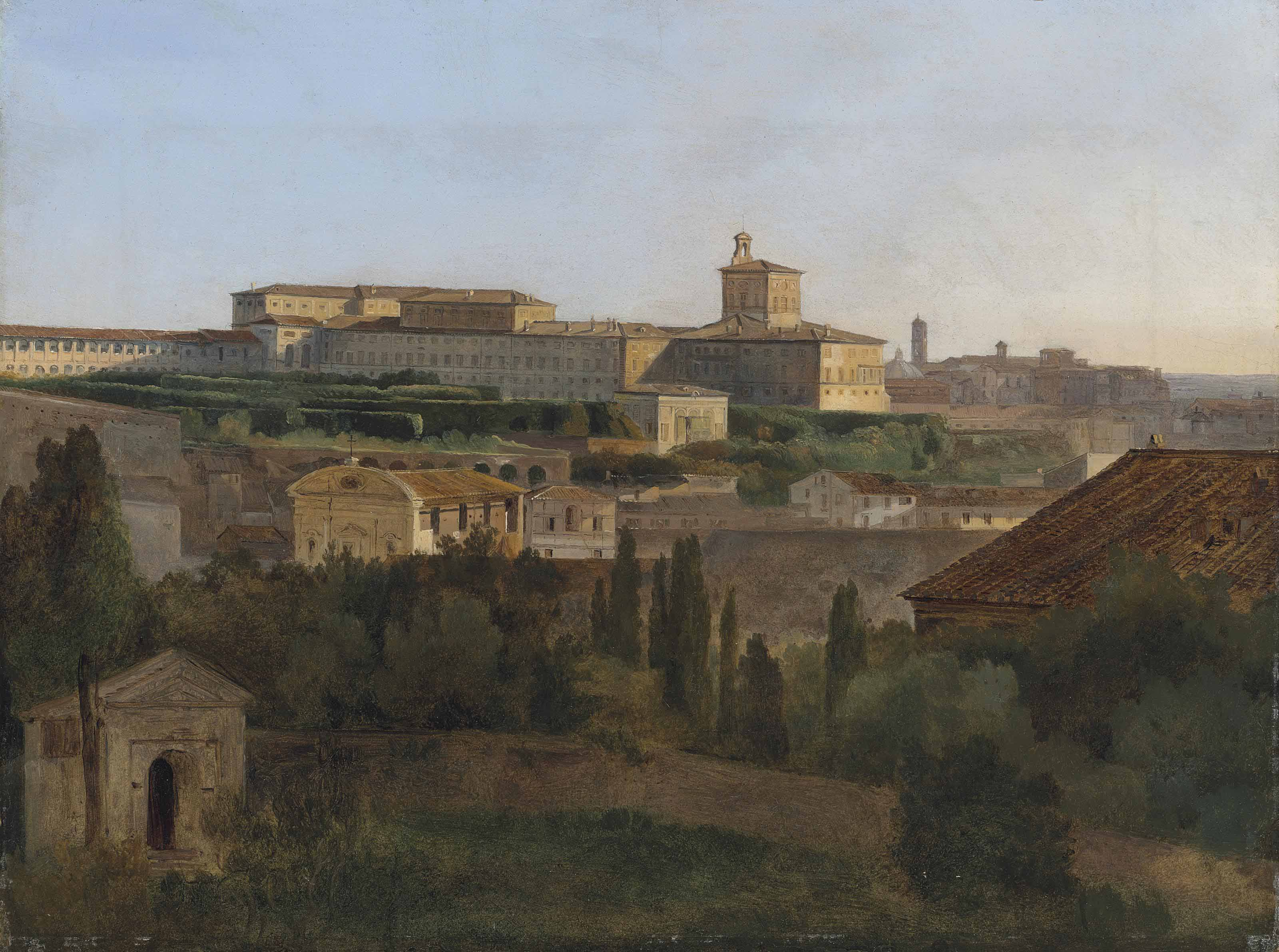 Vue de Rome depuis la Villa Malta