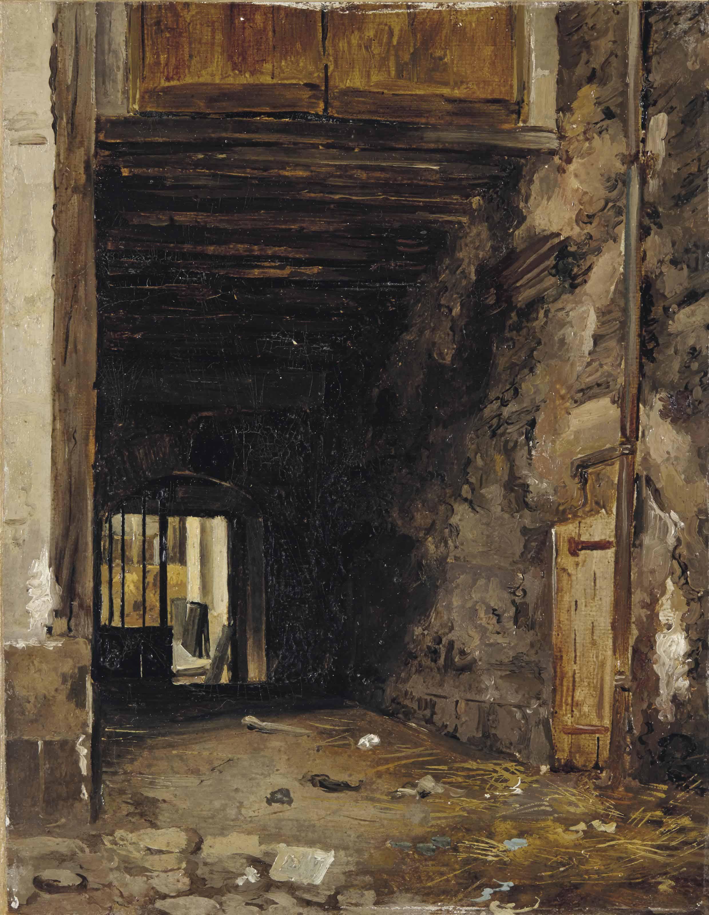 L'entrée d'une cour