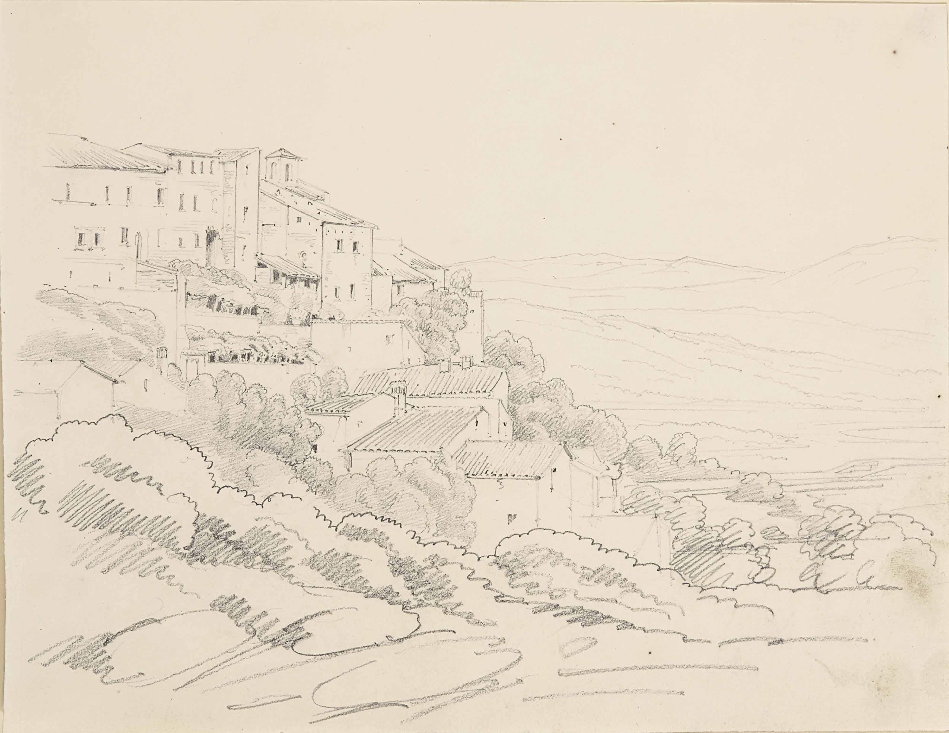Un village de montagne près de Rome