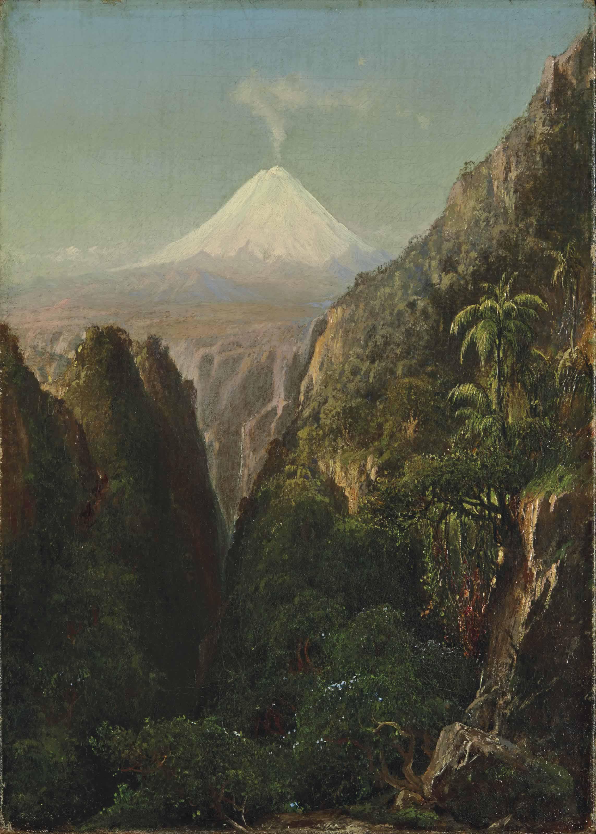 Le sommet de Palomar dans les Andes au Chili