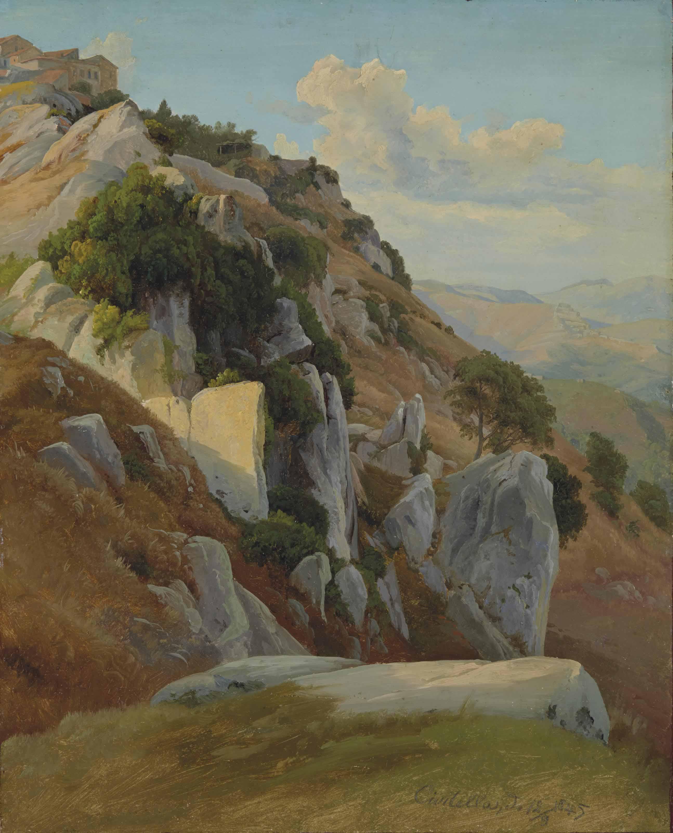 Paysage rocheux à Civitella del Tronto
