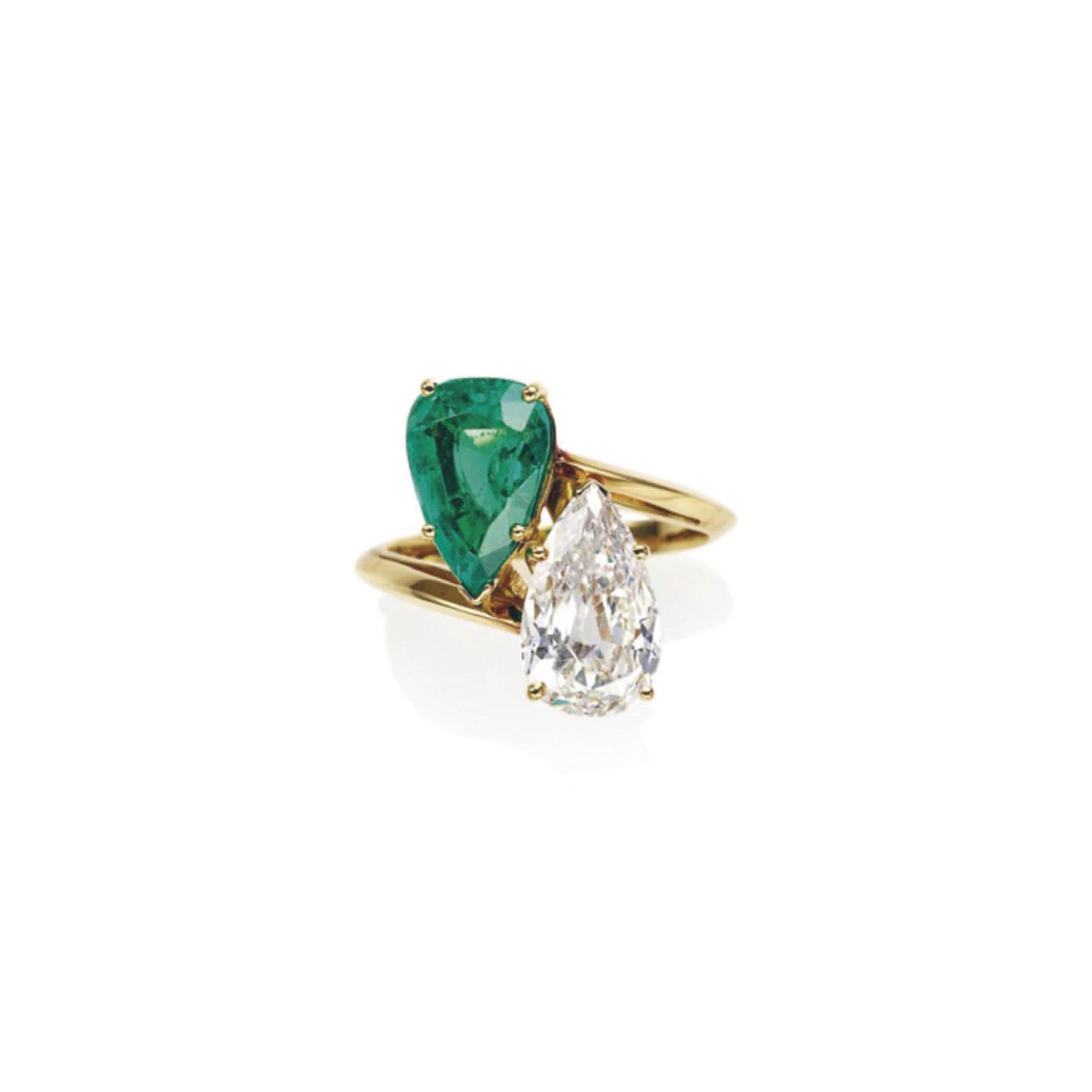 bague diamant forme emeraude