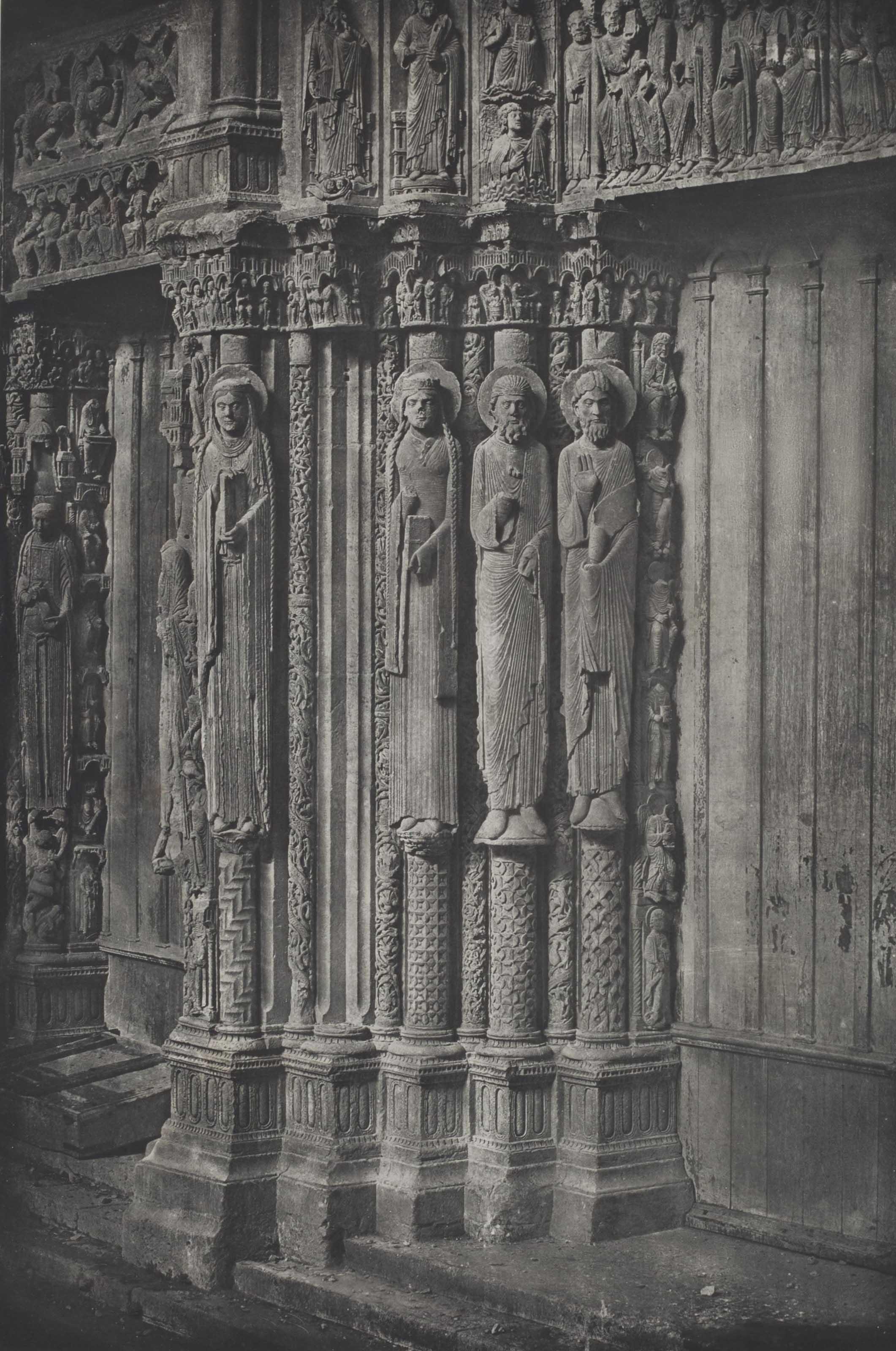 Cathédrale de Chartres, Porche Royal, 1856-1857