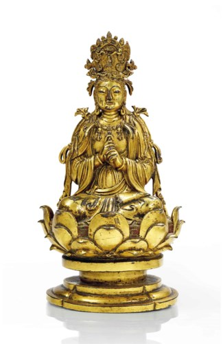 Rare Statue Du Bouddha Vairoca