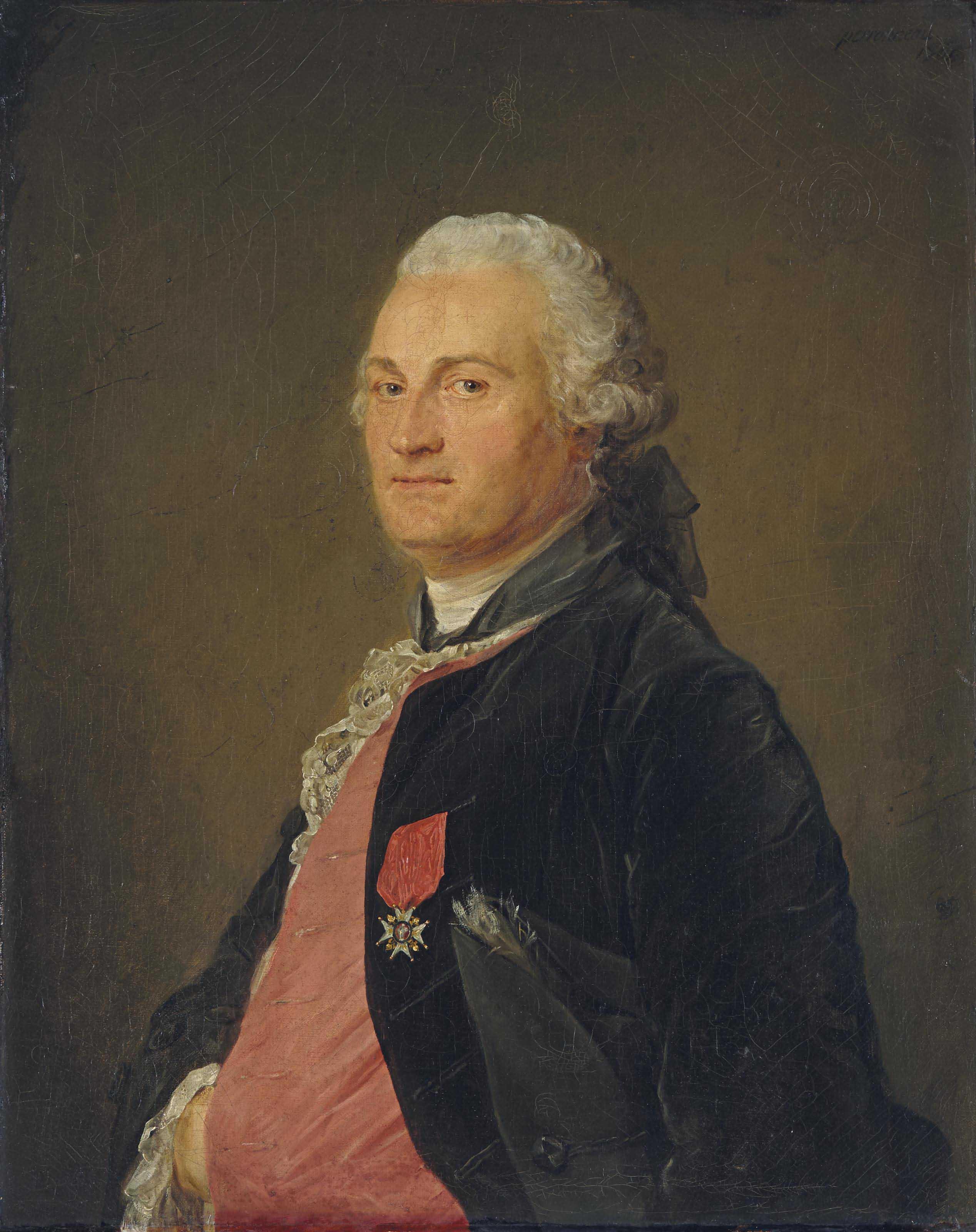 Portrait présumé de Barthélémy Augustin Blondel d'Azincourt (1719-1795)