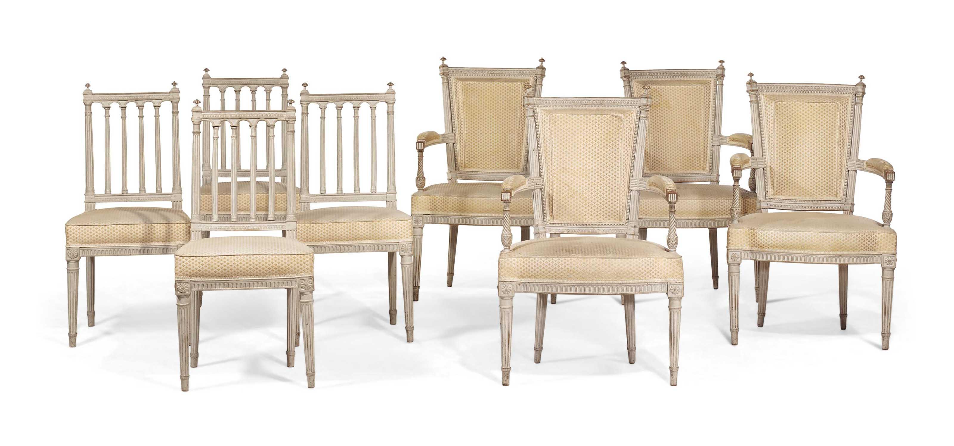mobilier de salon d 39 epoque louis xvi dernier quart du xviiie siecle christie 39 s. Black Bedroom Furniture Sets. Home Design Ideas