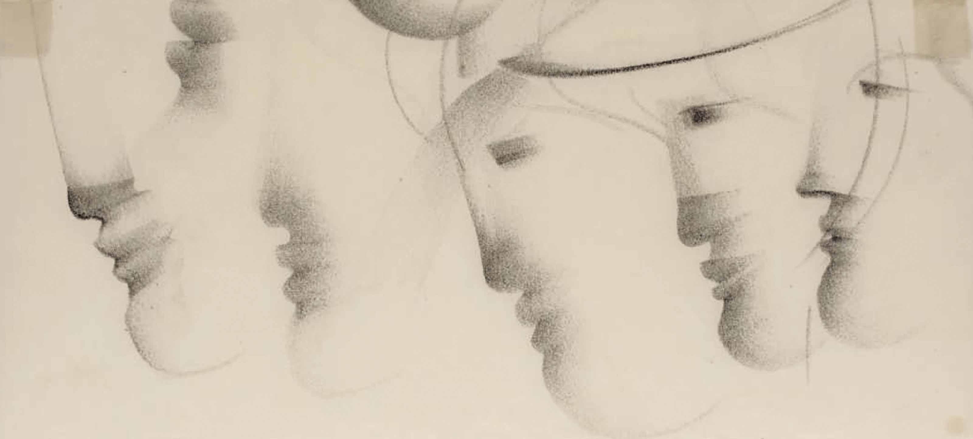 Profile (Fünf Köpfe nach links)